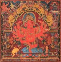 Ganesha in einer tibetischen Darstellung