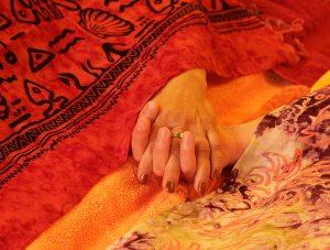 Abschluss der Paarmassage als Synchronmassage